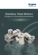 BJ Gear Stainless Steel Motors Information